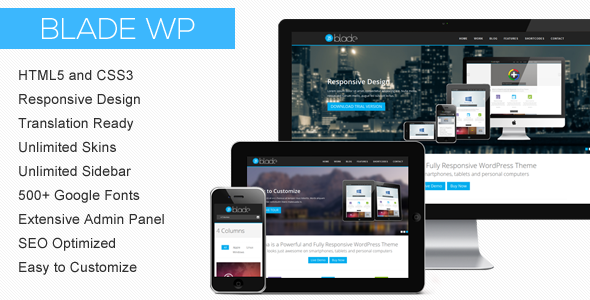 Blade – Responsive Business WordPress Theme