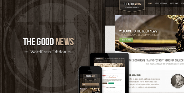 The Good News – Responsive WP Theme For Churches