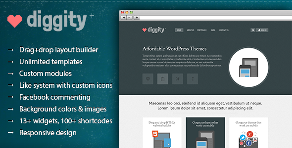 WP Diggity – Pro Layout Builder Theme