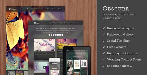 Obscura – Responsive WP Fullscreen Gallery & Blog