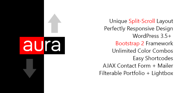 Aura – WordPress Unique & Responsive Split-Scroll