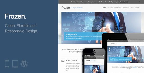 Frozen – Responsive Business WordPress Theme