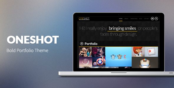 OneShot: Big & Bold Portfolio Theme