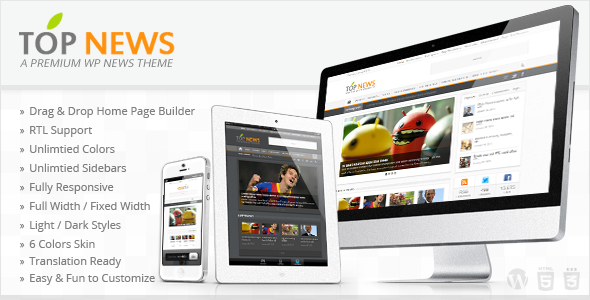 Topnews Premium WordPress News Magazine