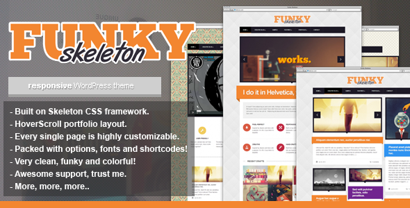 Funky Skeleton – responsive WordPress theme