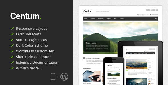 Centum – Responsive WordPress Theme