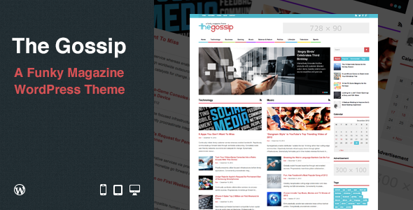 The Gossip: Funky Magazine WordPress Theme