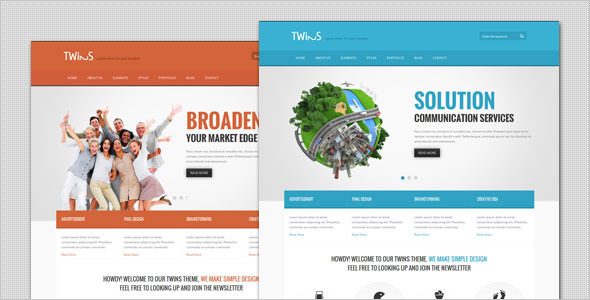 Twins – Corporate Business WordPress Theme