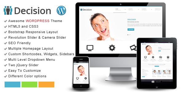 Decision – Bootstrap WordPress Responsive Theme
