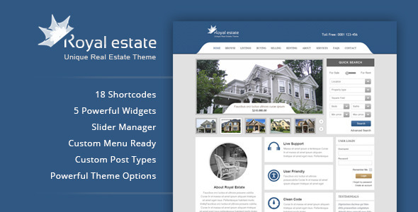 Royal Estate – Premium WordPress Real Estate Theme