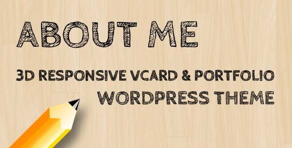 AboutMe – 3D Responsive Vcard & Portfolio WP-Theme