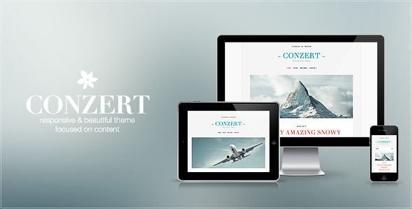 Conzert – Responsive WordPress Theme