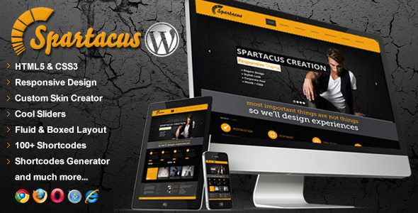 Spartacus Multipurpose Responsive WordPress Theme