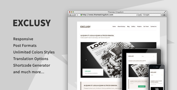 Exclusy – Responsive Portfolio WordPress Theme