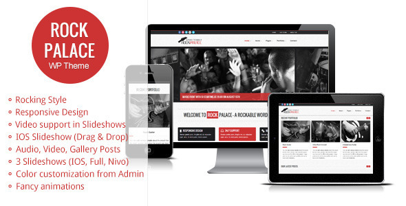 Rock Palace – a Responsive Music WordPress Theme