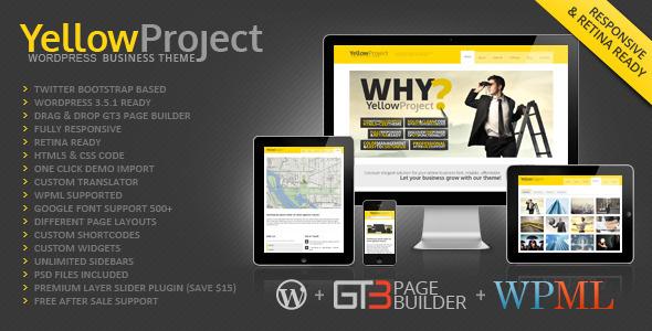YellowProject Multipurpose Retina WP Theme