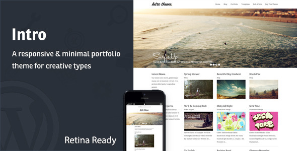 Intro – Responsive Portfolio WordPress Theme