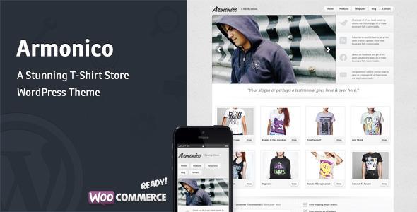 Armonico – A Stunning Tee Store WordPress Theme