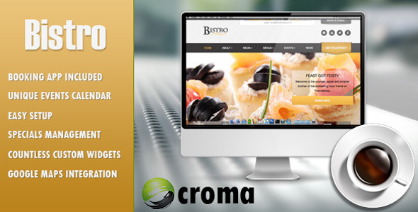 Bistro – Responsive Foodie App-theme