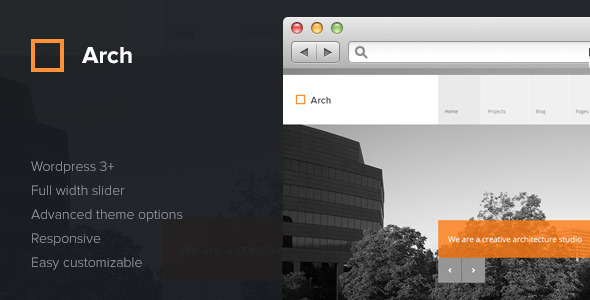 Arch – Responsive Architect WordPress Theme