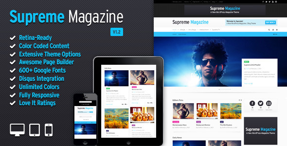 Supreme – Retina Responsive Magazine/Blog WP Theme