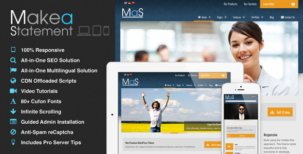 MaS – Multilingual Responsive Multi-Purpose Theme