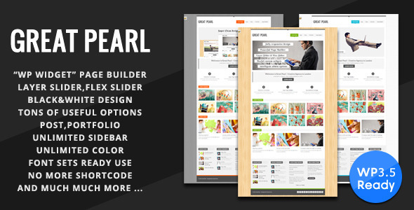 Great Pearl – Minimal Portfolio WordPress Theme
