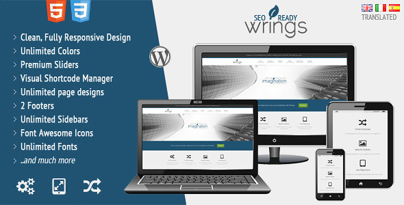 Wrings | Fully Responsive Corporate Template