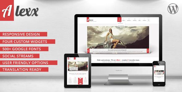 Alexx – Multipurpose WordPress Theme