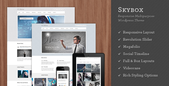 Skybox – Responsive Multipurpose WordPress Theme