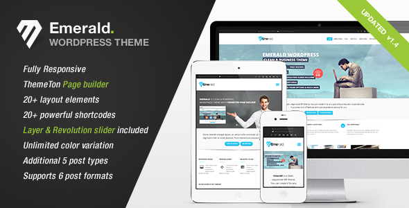 Emerald – Modern and Elegant theme for Corporate