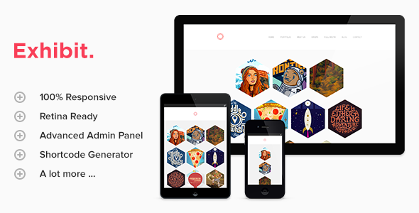 Exhibit – Retina Responsive WordPress Theme
