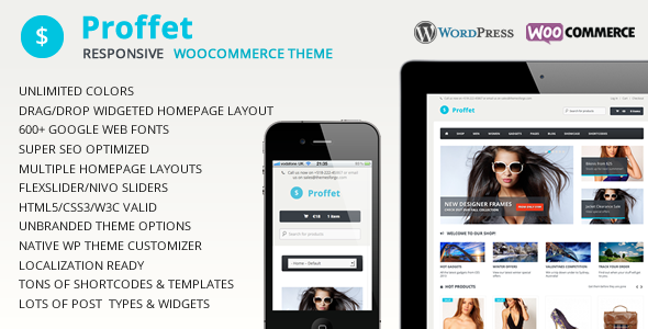 Proffet – Responsive WooCommerce Theme