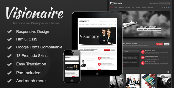 Visionaire – Responsive Business WordPress Theme