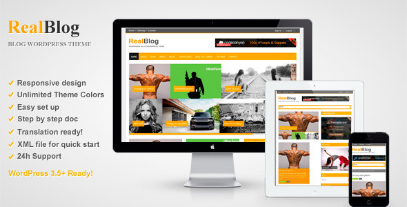RealBlog – Responsive WordPress Blog Theme