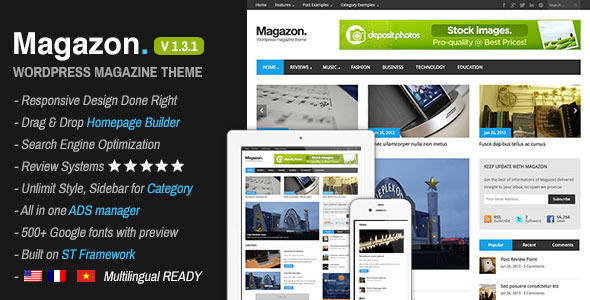 Magazon – Advanced, Responsive WP Magazine Theme