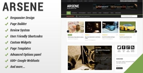 Arsene – Blog/Magazine WordPress Theme