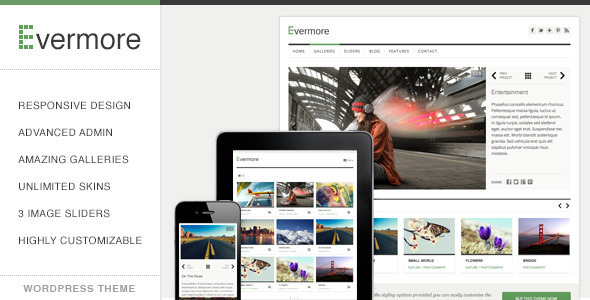 Evermore – Premium Responsive WordPress Theme