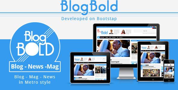 Blogbold – Responsive Metro Blogmagnews Theme
