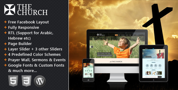 The Church – Responsive WordPress Theme