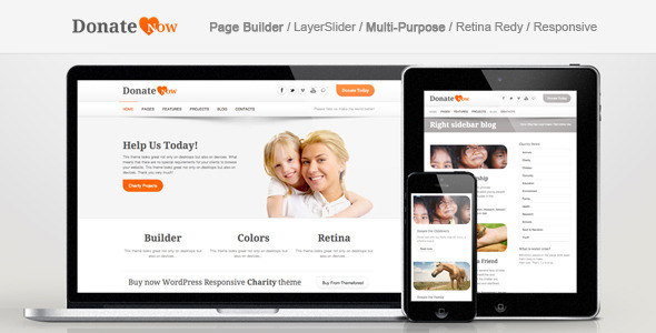 DonateNow | WordPress Theme for Charity