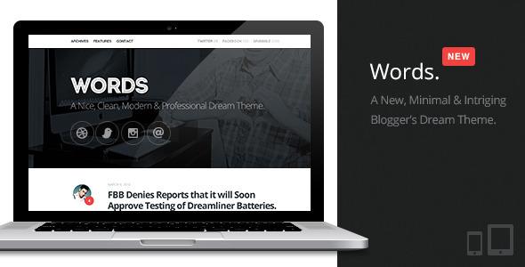 Words | Responsive Premium Blog Theme