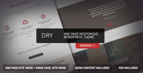 Dry – One Page Responsive WordPress Theme