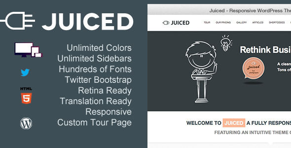 Juiced – Responsive WordPress Theme