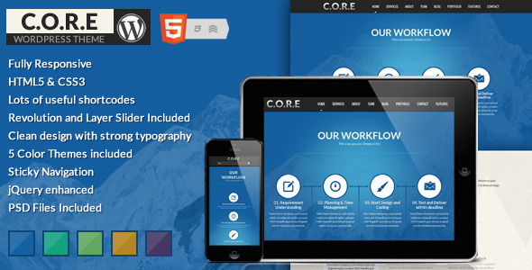 Core – Responsive One Page WordPress Theme