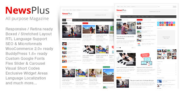 NewsPlus – Magazine/Editorial WordPress Theme