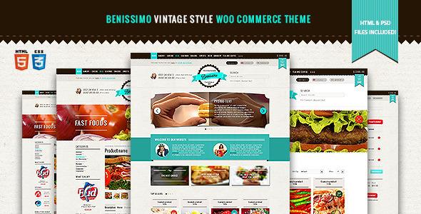 Benissimo — Vintage Style WooCommerce Theme