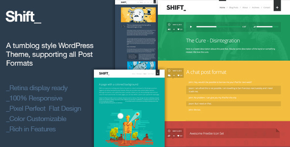 Shift – A Tumblog Style WordPress Blogging Theme