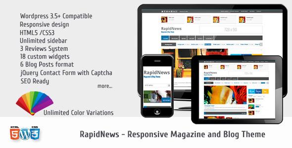 RapidNews – Responsive Magazine Theme