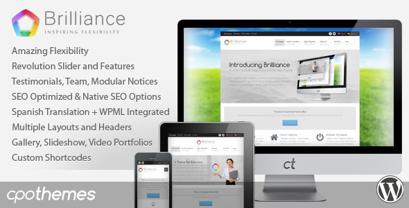Brilliance – Responsive Multi-Purpose Theme